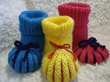 Puff Slippers -  Easy Beginner Chunky Knitting Pattern