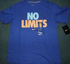 NWT Nike Boys YMD Blue/Light Blue/Lt Orange KNOW LIMITS Shirt Medium