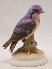 "Lefton Porcelain Bird: Gift Boxed -Hand Painted KW-1184: ""Purple Martin"""