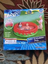 New listing H2Ogo Sweet Strawberry Inflatable Kiddie Swimming Pool 63in. x 63in. x 15in.