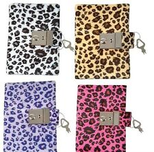 NEW 4 ANIMAL DIARIES WITH A BUILT IN LOCK AND KEY  PURPLE, TAN, PINK AND WHITE