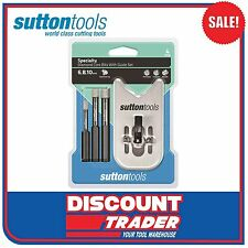 Sutton Tools 4 Piece Diamond Core Drill Bit Set With Guide - D6180004