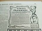 OCT 1904 MAGAZINE PAGE #A411- CURE YOUR HUSBAND OR LOVED ONE OF DRINKING