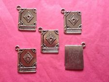 Tibetan Silver Spell Book/Book Charms 5 per pack