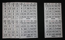 BINGO PAPER Cards 2 on 1 White Solid 150 sheets  no duplicates FREE SHIPPING