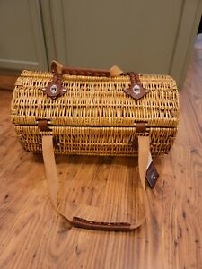 VERONA PICNIC TIME WINE AND CHEESE BASKET ADELINE COLLECTION NEW