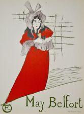 9de27f0c2ec Henri de TOULOUSE-LAUTREC - Lithographie monogrammée - May Belfort