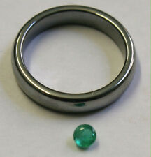 NATURAL LOOSE EMERALD HAND CUT GEMSTONE 3.5MM FACETED ROUND 0.3CT GEM EM31