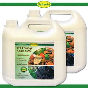 Schacht 2x 3L Bio Flüssig-Komposter Garten Abfall Nährstoffe Mikroorganismen