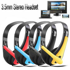 3.5mm Stereo Gaming Microphone Headset Head Headphone Bass For Computer Phone US