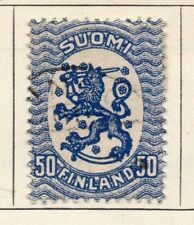 Finland 1918 Early Issue Fine Used 50p. 105504