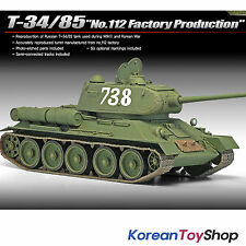 Academy 13290 1/35 Plastic Model Kit T-34/85 No.112 Factory Production Armor