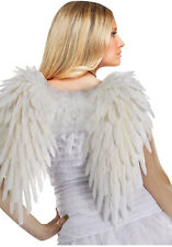 """Feathered White Wings Angel Devil Sexy Adult Halloween Costume Accessory 17"""""""