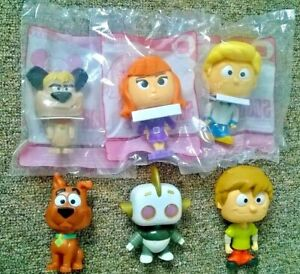 Scoob! Scooby Doo Muttley Rotten Daphne Lot of 6 Bobblehead Toys 2020 McDonald's