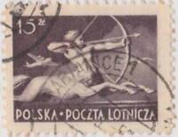 "POLOGNE / POLAND - 1950 "" PABIANICE 1 "" date stamp on Mi.479 15Zl. Centaurus"