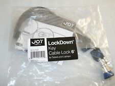 The Joy Factory LockDown Key Cable Lock 6' for Tablets and Laptops (scu102), New