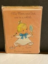 Vtg New Baby Girl Birth Announcements
