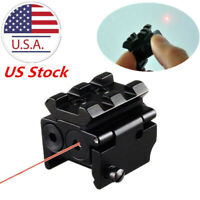 US Tactical  Mini Pistol Red Dot Laser Sight Scope Rail Weaver/Picatinny Mount