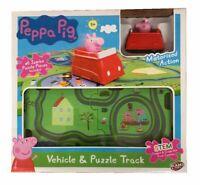 Peppa Pig de Vehículo & Jumbo Puzzle Set Pista Motorizado Coche Playset Juguete