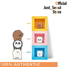 100% Authentic We Bare Bears Cube Airpods Case Cover 3 Characters Official MD