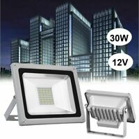 30W 12 Volts LED Floodlight Outdoor Yard Light Flood Cool White Lamp 12V IP65