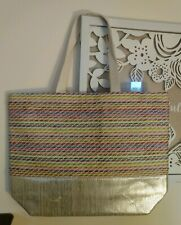 Paper Straw Tote SHOPPER Reusable Beach Pool Tailgate Book Bag #190905-321