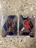 2020 Zion Williamson Rookie Mosaic Base And NBA Debut 2-card Lot