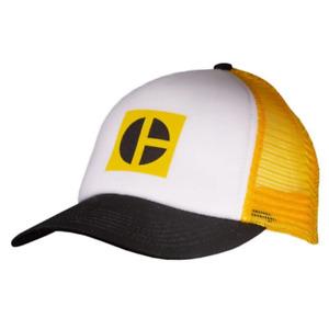 Caterpillar CAT Equipment Foam Block C Yellow Mesh Snapback Front Cap/Hat