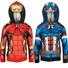 Boys ER1087 Marvel Avengers Full Zip Hooded Sweatshirt Size: 4-10 Years