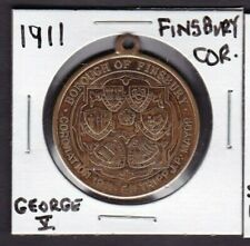 1911 Borough Of Finsbury King George V Coronation Medal