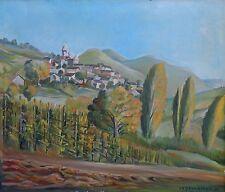 """Pittore Bergamaschi (olio su tela ) """" PAESAGGIO """""""