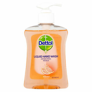 Dettol Liquid Pump Hand Wash Moisture Gentle Formula 250ml - Grapefruit