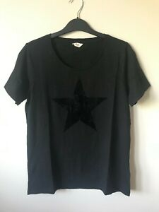 Hush Flock Star print Tshirt Top XS-XL Black