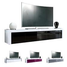 Armoire basse Meuble TV La Paz en Blanc - Façades en coloris divers