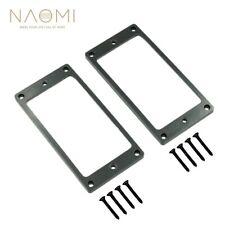 NAOMI 2Pcs Flat Metal Humbucker Pickup Frame Mounting Rings For Electric Guitar