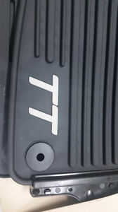 2007 TO 2014 Audi TT Genuine Factory FRONT Rubber All Season Floor Mats - BLACK