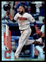 2020 Topps Chrome Base Prizm Refractor #165 Carlos Santana - Cleveland Indians