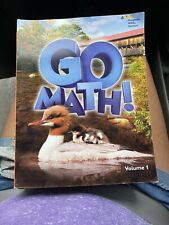 GO MATH! 2nd Grade Student Edition Book Vol. 1 & 2w Color Pages (Home or School)