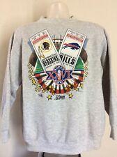 Vtg 1992 Super Bowl Xxvi Sweatshirt Gray Xl 90s Buffalo Bills Redskins