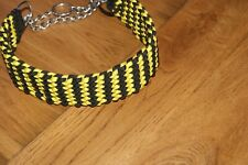 "brand new handwoven 24"" martingale collar made from 550 Paracord."