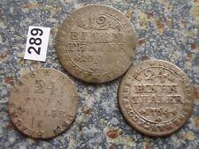Braunschweig Wolfenbüttel Karl 1735-1780 1/24 Taler 1764 & Wilhelm 1814 & 1/12 T