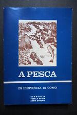 A PESCA IN PROVINCIA DI COMO  1971  Consorzio Tutela Pesca Como - Sondrio