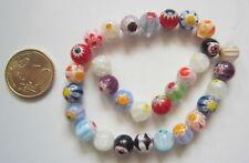 Perlas bola cristal milflores 8 mm X 31 UNIDADES colores variados abalorios