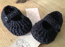 43efebd3b Patucos De Bebe Negro 0 3 Meses Zapato Recién Nacido Algodón Nuevo Artesanal