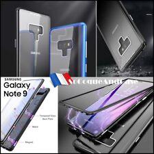 Etui coque Bumper Magnétique Dos Verre Trempé Glass Case Samsung Galaxy Note 9