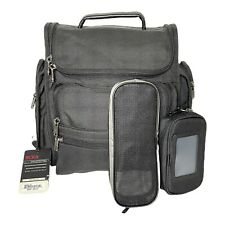 NEW WT Tumi Black Compact Computer Brief Pack Backpack Fusion Z Nylon + 2 Pouch