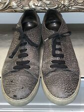 MEN'S LANVIN DBBI BLACK LEATHER SNEAKER SHOES UK SIZE 9 EUR SIZE 43