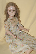 "Vintage 1930's Arranbee Seated 22"" Debu'teen Bent -Leg Composition & Cloth Doll"