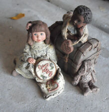 "1992 Sarah's Attic Forever Friends Children #180 Signed Figurine 3 1/2"""