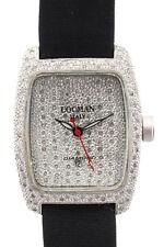 Locman Black Silver Aluminum Quartz Diamond Face and Bezel Water Resistant Watch